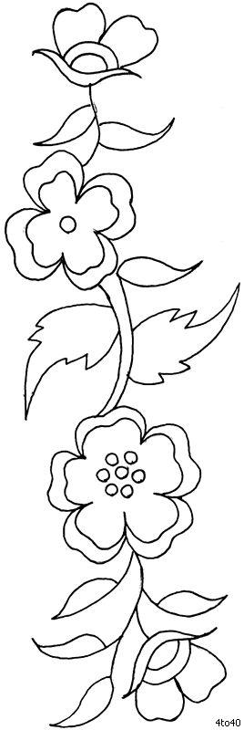 Sarika Agarwal Textile Flower Design 2
