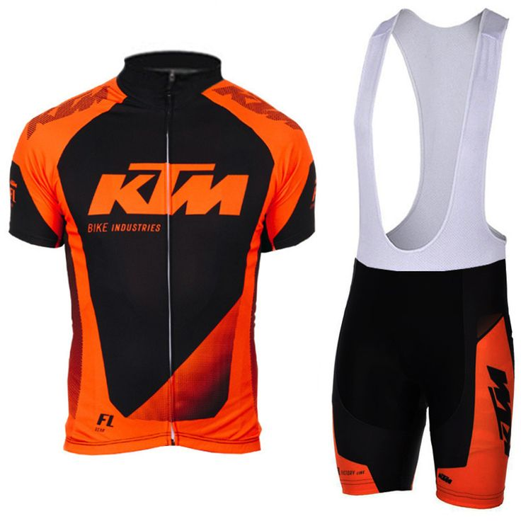 2017 KTM Cycling team jersey short sets bike 3D gel shorts set Ropa Ciclismo mens summer pro cycling wear ride maillot Culotte