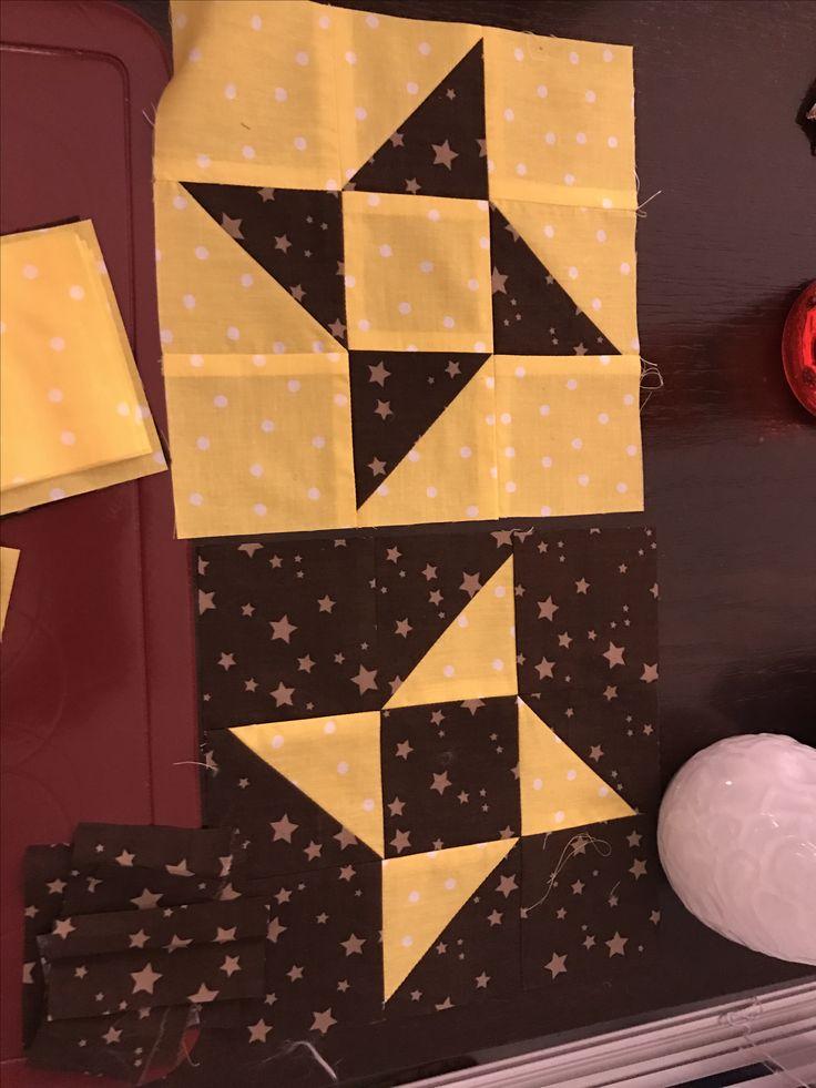 #friendshipstar #patchwork #freundschaftsstern #babydecke #yellow #brown #gelb #braun