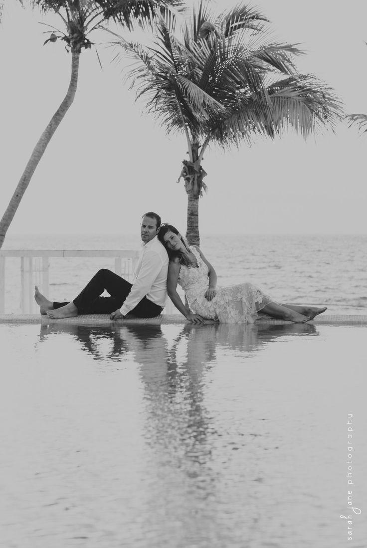 Wedding Photography - Bride and Groom on a beach