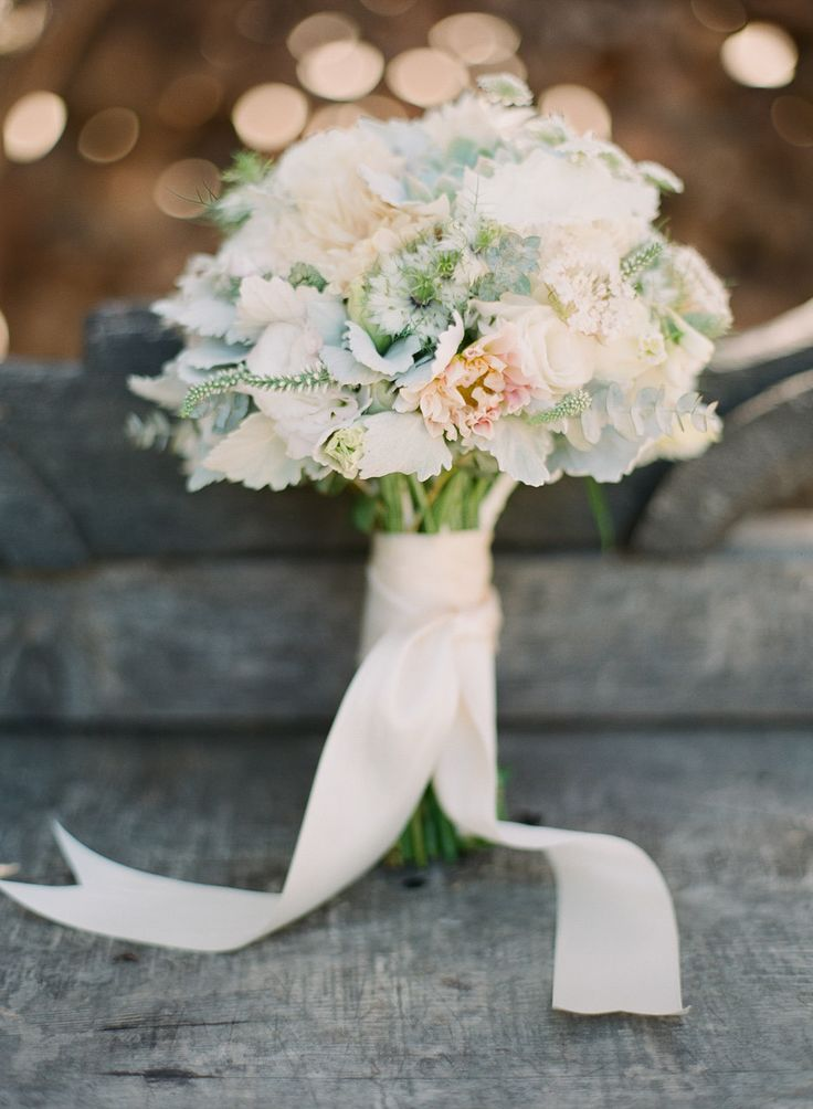 #Blush #Mint #Bouquet | See the wedding on SMP - http://www.StyleMePretty.com/2014/01/09/bohemian-inspired-california-wedding-at-holly-farm/ Lexia Frank Photography
