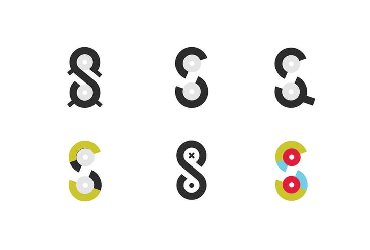 archventil_spiderspool_letterform (1) - The Spiderspool letterform versions – spools with spider's legs, by Archventil. - #archventil #spiderspool #brandidentity #visualidentity #3dprinting #filament #logo #brandmark #pictorialmark #spool #circle #yellow #gray #black #blue #s