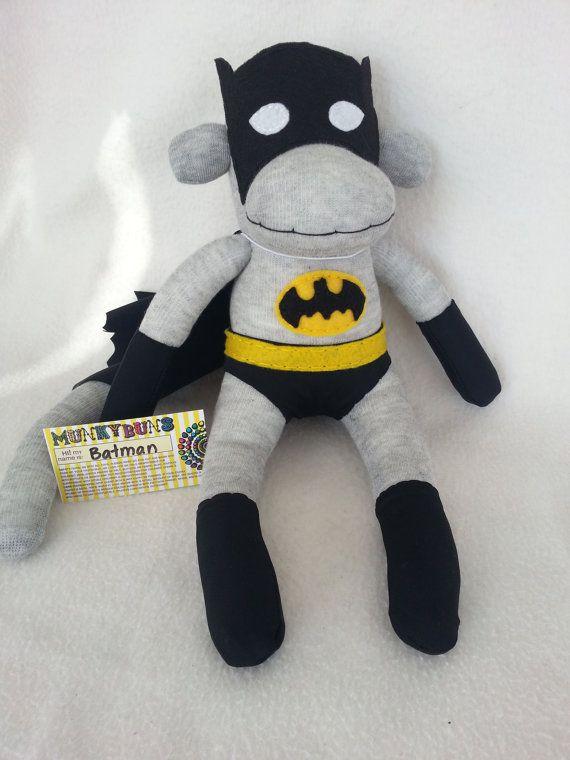 Batman Sock Monkey. Oh my goodness. Hopefully my grandma can make this! :)