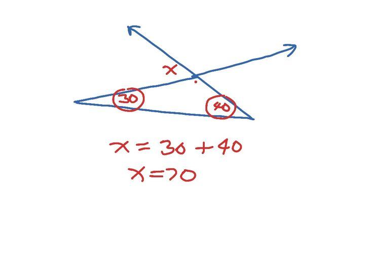 Exterior Math: Best 25+ Exterior Angles Ideas On Pinterest