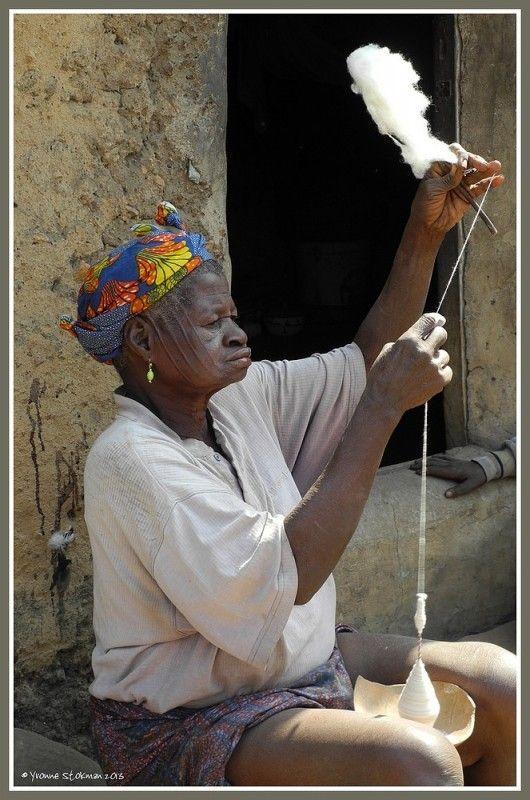 Garen spinnen, Yom vrouw, Noord Benin
