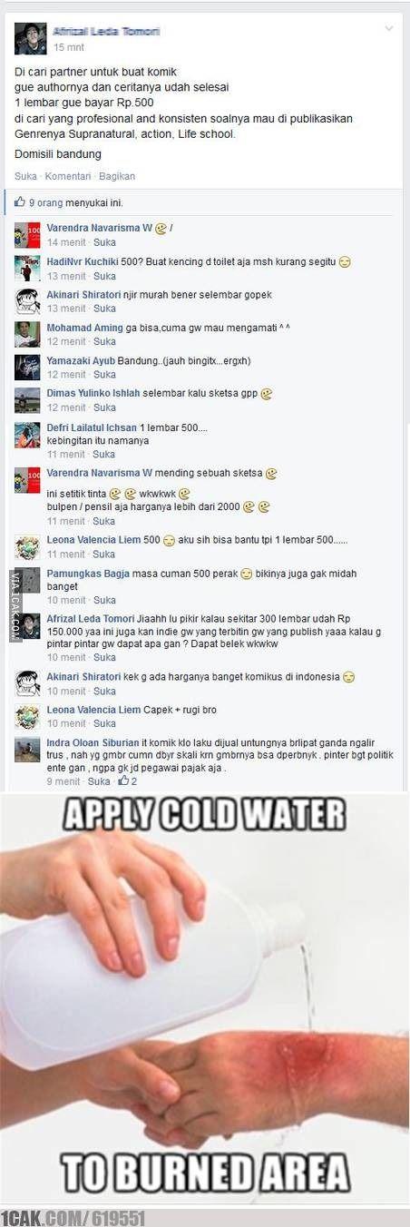 source: http://1cak.com/619551 | sedih ya, bikin komik cuma dihargain 500 rupiah... tapi kami sih bisa kok bikin sesuai bayaran :v
