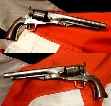 This original 1860 Colt Army revolver would be a most fine addition to any collection of fine arms. A Colt 44 Cal Revolver dating to the Civil War.