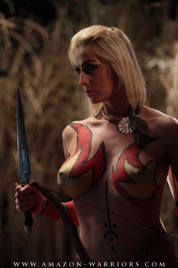 sexy half nude warrior pics