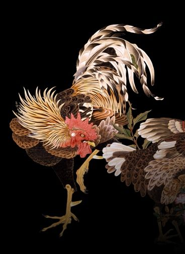 Rooster, Ito Jakuchu, looks like my tattoo from Brandon Davis