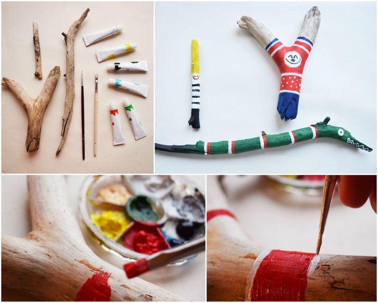 hand painted driftwood toys for kids