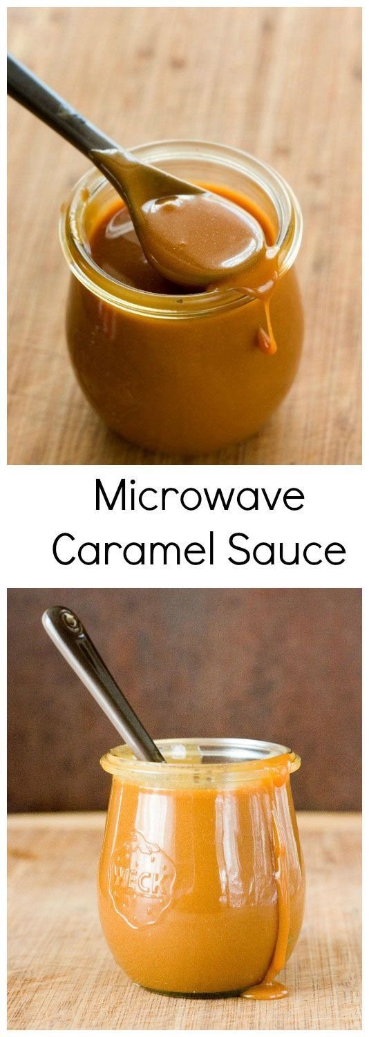 Microwave Caramel Sauce - the easiest caramel sauce that takes only 10 minutes to make!