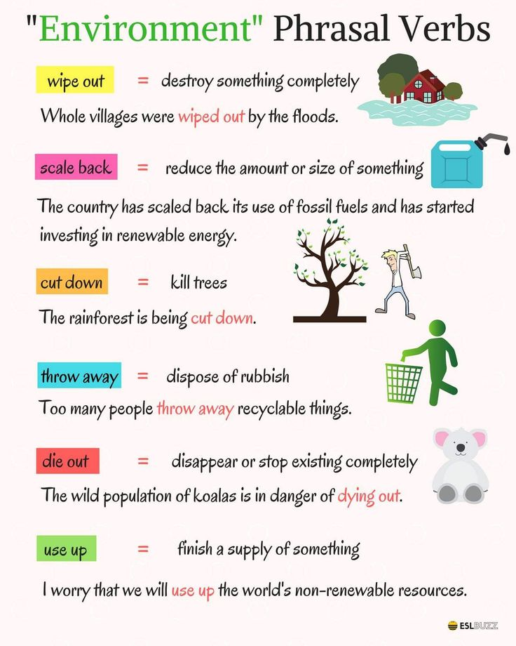 """Useful Phrasal Verbs Related to """"Environment"""" & """"Health"""""""