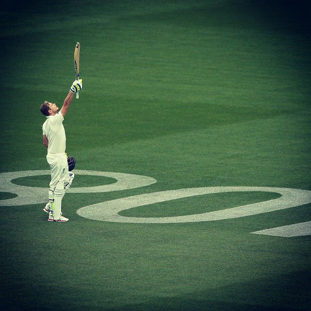 Another special moment. Well done, Steve Smith #AUSvIND