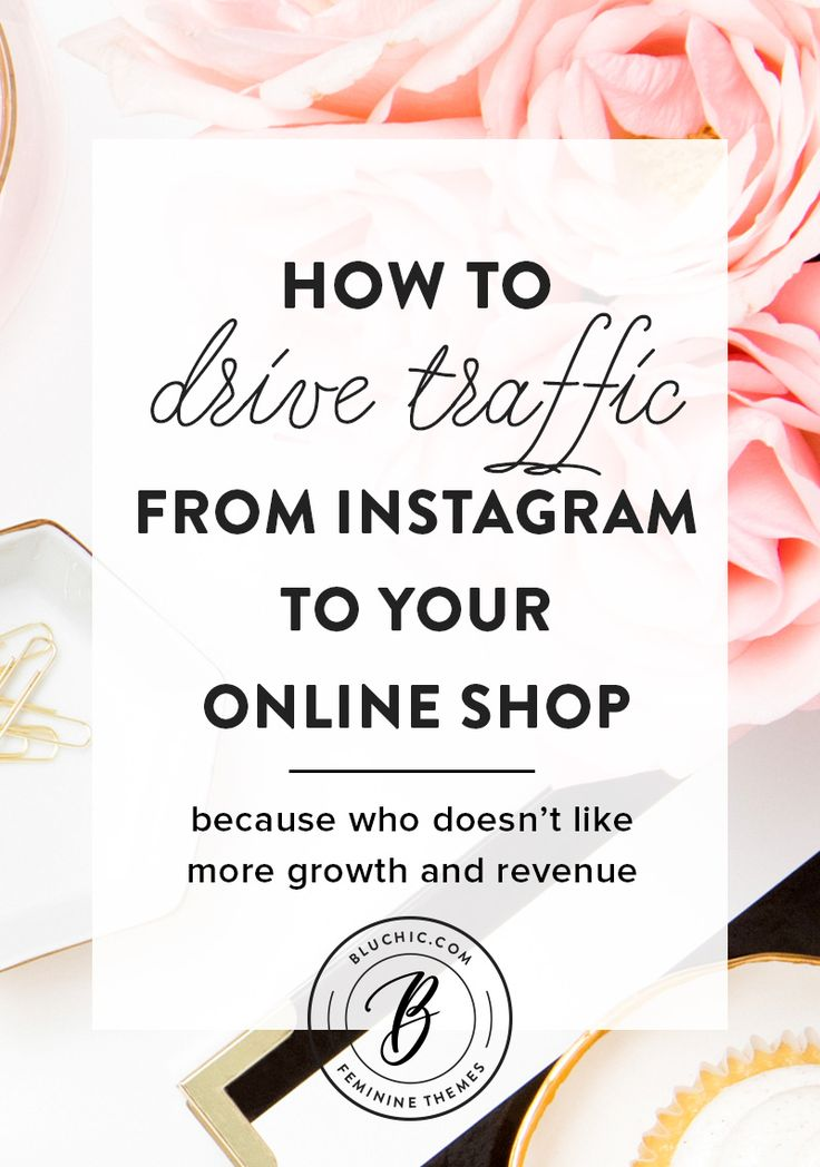 We wanted to share our best tips on how you can drive traffic from Instagram to your online shop, because who doesn't like more growth and revenue? Click to read more or save for later!