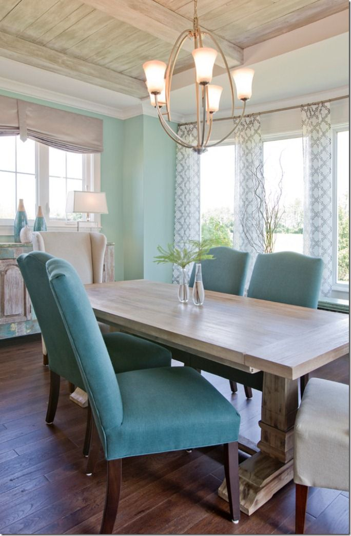 148 best teal turquoise images on pinterest blue green for Dining room ideas teal