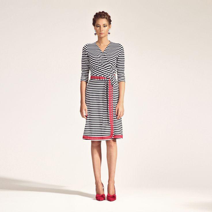 s/s 2016 - Zavinovací šaty s paličkovanou krajkou