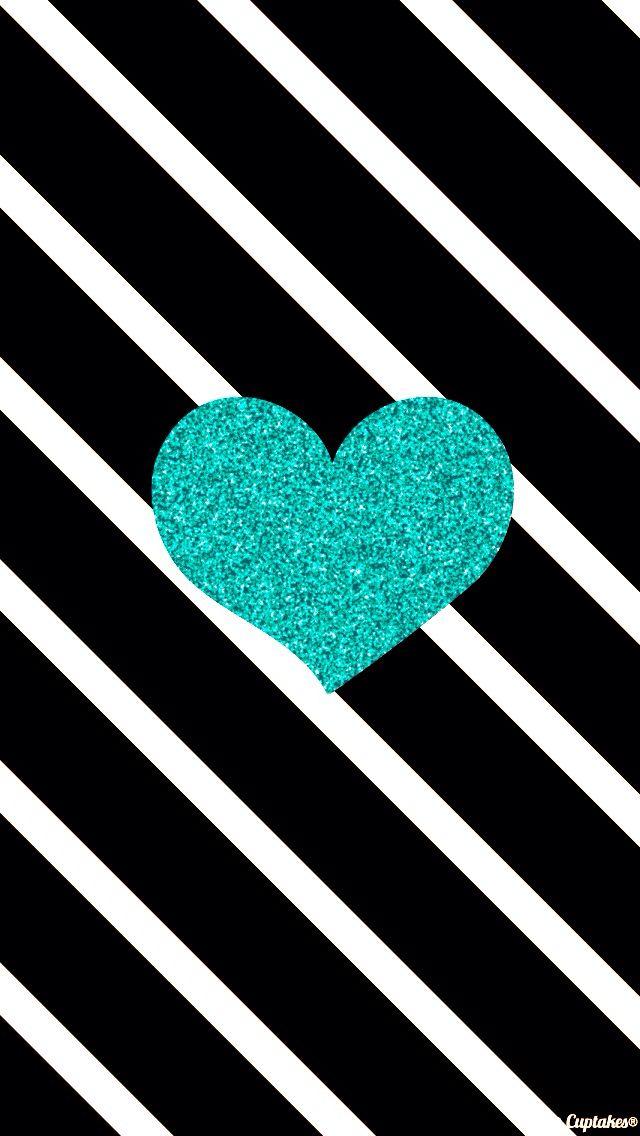 Teal sparkle love
