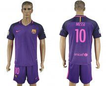 2016-2017 Barcelona #10 MESSI Purple Away Soccer Jersey