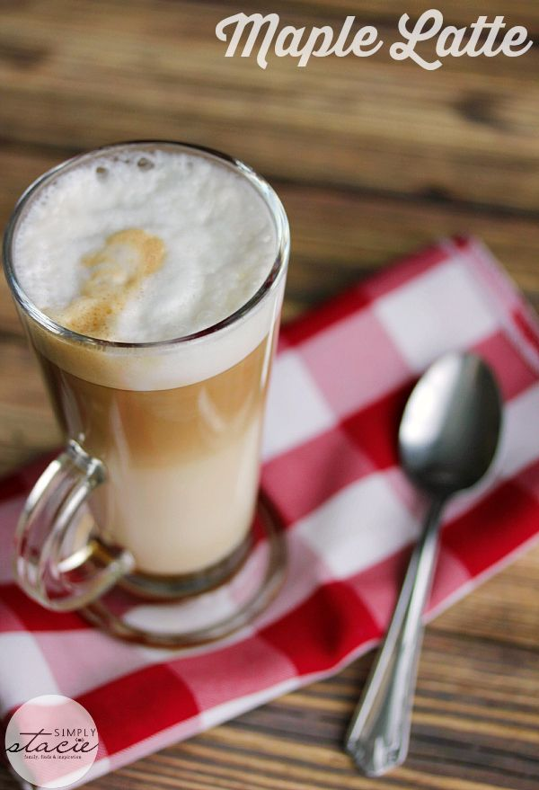Maple Latte - hot, sweet and perfect for fall made with only three ingredients!