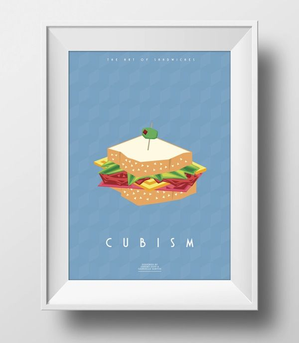 Delightful Sandwich Posters Explain Popular Art Movements - DesignTAXI.com