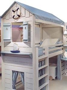 lit cabane gm toutes hauteurs lits cabane enfant mobilier enfant sur ma chambramoi boutique. Black Bedroom Furniture Sets. Home Design Ideas