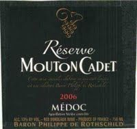 Reserve Mouton Cadet Medoc.  Just right paired with beef wellington.  Tried the 2011 vintage.  $20 at the NB Liquor in January, 2014.