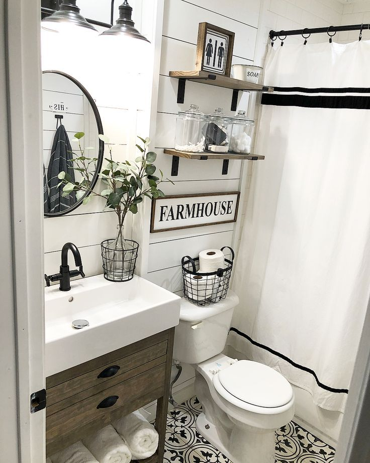I Love A Before And After And Here Is One Of My Bathroom Such A Transformation I M Going Farmhouse Bathroom Decor Modern Farmhouse Bathroom Rustic Bathrooms