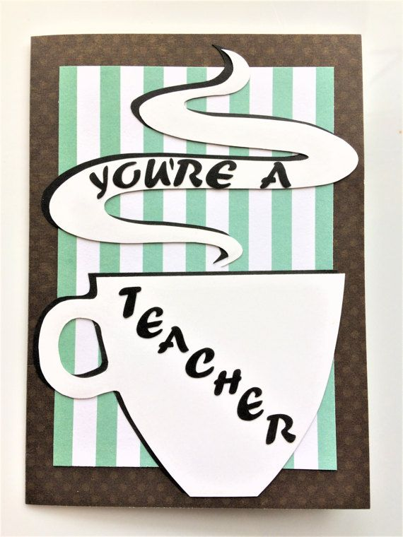 Greeting card for teachers Thinking of you by SLPinTheMaking