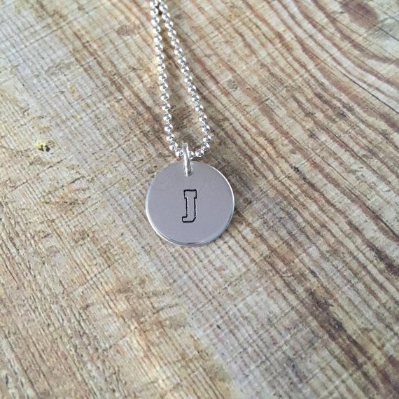 University Sterling Silver Initial disc by TwistedJewelleryCreations
