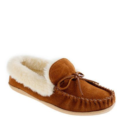 Lodge Moccasins by J. Crew. The ideal shoe to keep you warm all winter