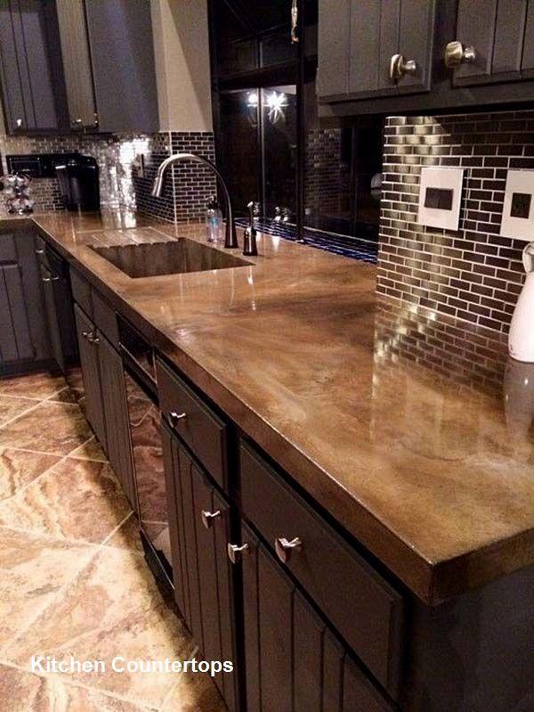 Kitchen Countertop Design Ideas In 2019 Concrete Kitchen