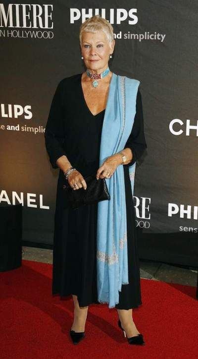 """13th Annual Premiere Magazine Dinner Honoring """"Women In Film""""  BEVERLY HILLS, CA - SEPTEMBER 20: Actress Dame Judi Dench arrives at the 13th Annual Premiere """"Women in Hollywood"""" at the Beverly Hills Hotel on September 20, 2006 in Beverly Hills, California. (Photo by Kevin Winter/Getty Images) *** Local Caption *** Dame Judi Dench"""