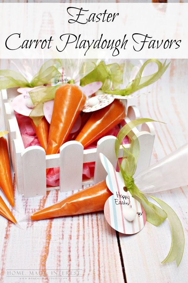 86 best easter party ideas images on pinterest easter birthdays easter carrot favor homemade playdougheaster basket ideaseaster negle Gallery