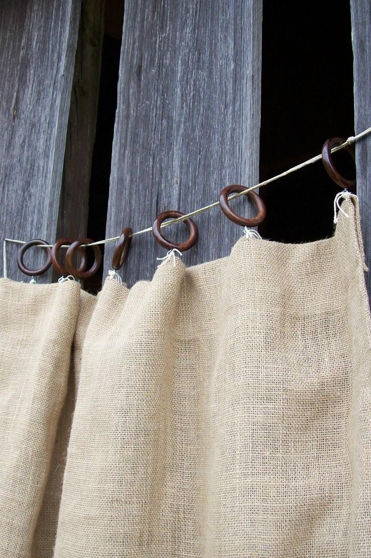 1000 Ideas About Burlap Window Treatments On Pinterest