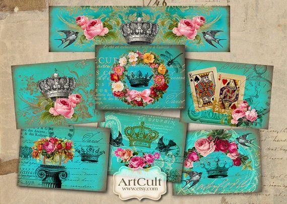 Etiquetas de regalo ROYAL turquesa  suministro de por ArtCult