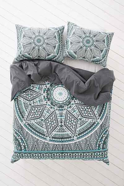 $119 - Magical Thinking Petra Geo Medallion Duvet Cover - Urban Outfitters