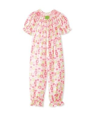 64% OFF Viva La Fete Kid's Floral Bubble Romper (Pink)