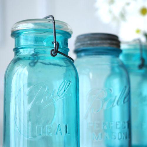 アンティーク メイソンジャー Ball Mason jar ビンテージ Quart(クォート) ワイヤー型 Bicentennial Celebration ワシ彫刻 ホワイト蓋