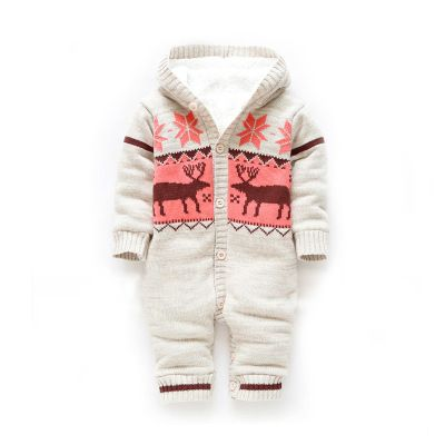 Thick winter coat jacket baby coveralls newborn baby clothes climbing clothes clothing Romper climb out clothes - Taobao