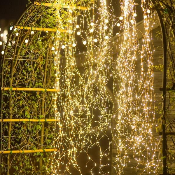 12v 300 600 Leds Fairy Vines Branch Lights Copper Starting At 42 Outdoor Fairy Lights Lights Firefly Lights