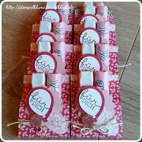 Goodies für meine Workshop Gäste, StampinUp, Ballon Stanze, DSP Liebesblüten...