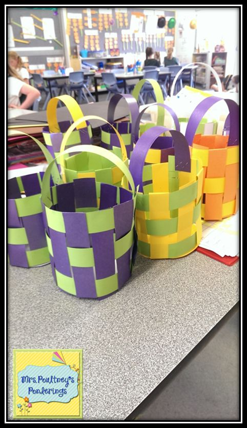 Mrs Poultney's Ponderings: Woven Easter Baskets