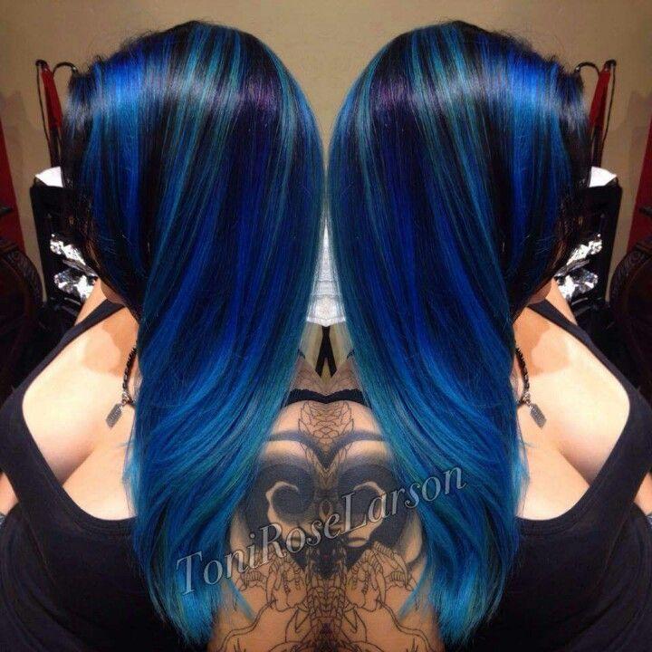 Blue Black vivid