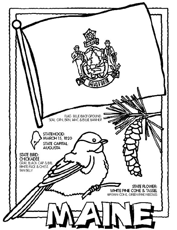 Maine State Symbol Coloring Page By Crayola Print Or Color Online
