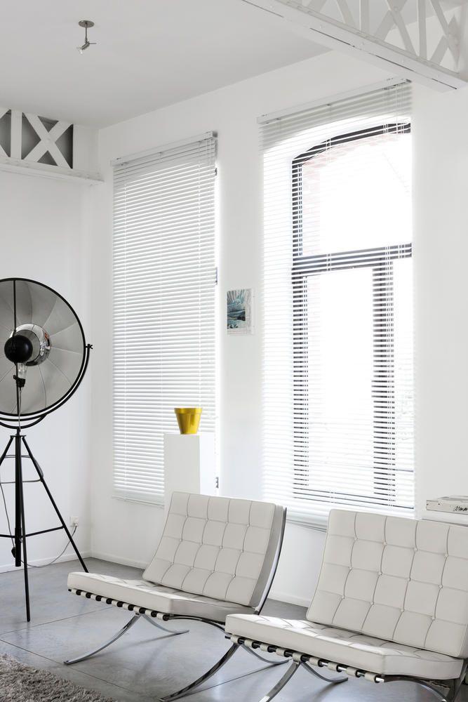 Copahome raamdecoratie horizontale jaloezieën, wit / La décoration de fenêtre. Stores vénitiens blanc