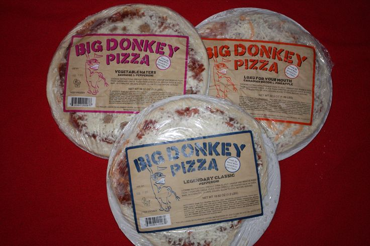 Big Donkey Pizza never looked so good. Not only does it