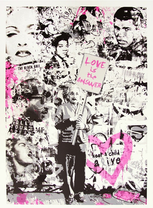 Love Is The Answer ~ by Mr Brainwash