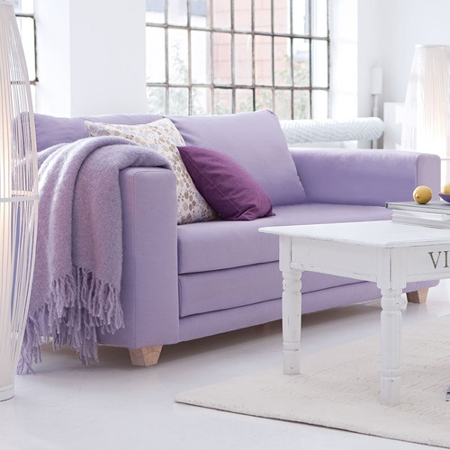 Purple Couch: How Does #lilac Inspire Your #home Style?