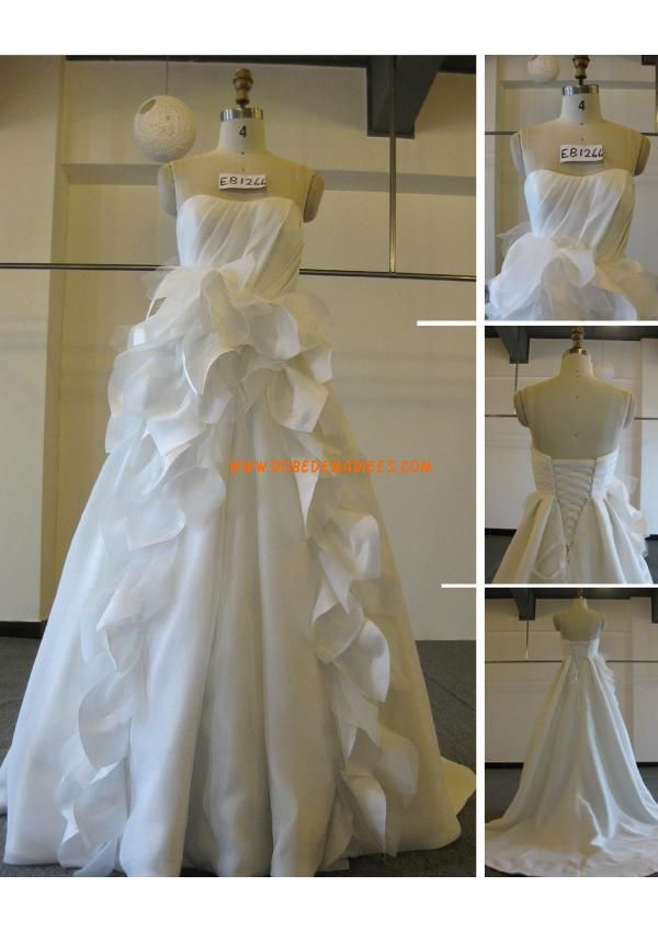 Robe de mariée couture princesse satin bustier