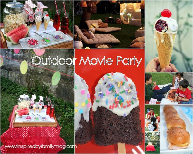 outdoor party | Outdoor Movie Party | Inspired By Familia